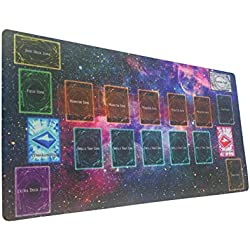 Yo-gi-oh Custom Galaxy Template 2017 Master Rule 4 Link Zone Playmat - Yugioh Galaxy Master Rule 4 Link Zone Playmat TCG Playmat MTG Playmat TCG Play mat Yogioh Playmat