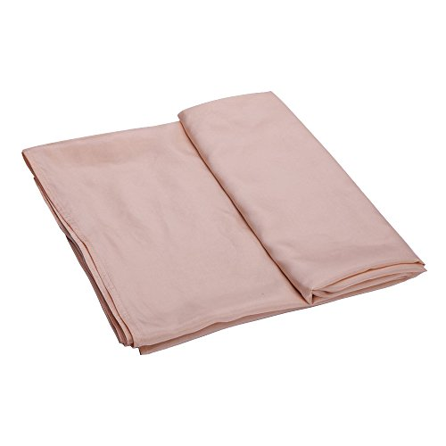 ALASKA BEAR - Natural silk sleeping bag liner cocoon-style travel sheet sleep sack with built-in pillowcase(Peach, 88