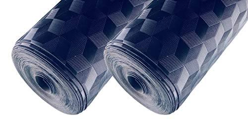 Diamond Plate Vinyl Flooring (AMERIQUE 691322304039 Premium 3Rd Generation Unique and Durable Embossed Diamond Plated Metallic Vinyl Flooring, Coverage: 200Sqft, Grade, 200 Square Feet)