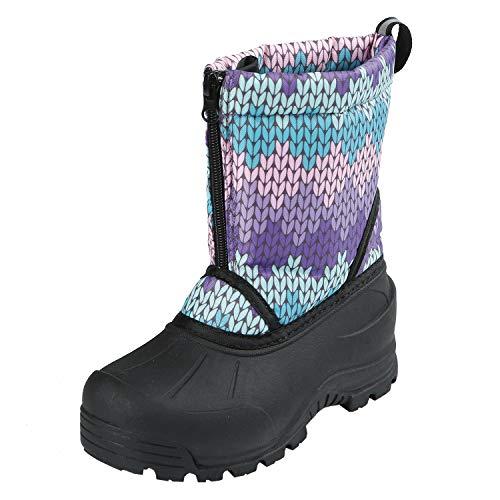 Northside Girls' Icicle Snow Boot, Purple/Turquoise, 11 Medium US Little Kid