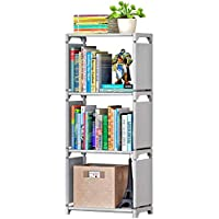 Rerii Cube Organizer Shelf, 3-Cube Storage Closet Organizer, Cabinet Bookcase, Bookshelf, Free Standing Shelves for Bedroom Living Room Office