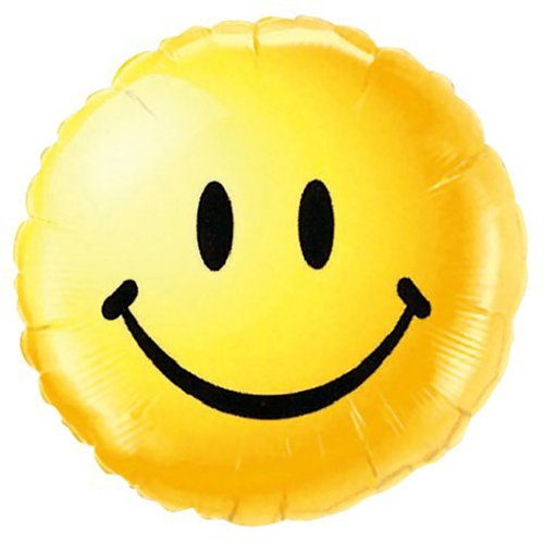 - PIONEER BALLOON COMPANY 29632 Smiley Face Foil Balloon Pack, 18