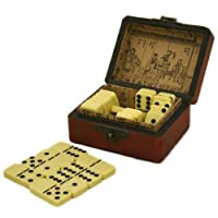 Collectible Ivory Color Domino Game With Chinese Storage Case by Asian Homeの商品画像