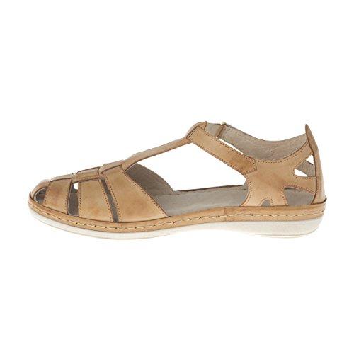 tessamino Damen Sandale | aus echtem Leder | Römersandale | Weite H | hellbraun