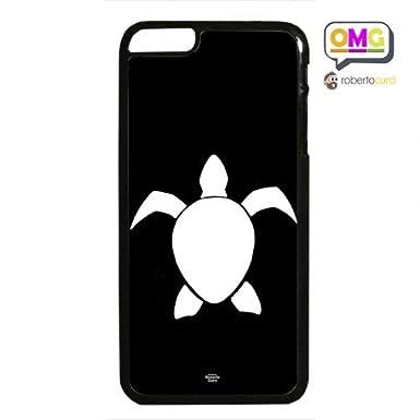 Cover Per Iphone 6 Plus Tartaruga Bianca Sfondo Nero Stilizzata By