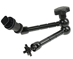 Camgeeker 11 Inch Articulating Magic Friction Arm for Hot Shoe Mounts to Work with LED Panel, DSLR Monitor, Mic 7ARM