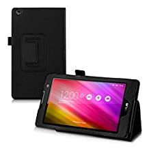 kwmobile Elegant synthetic leather case for Asus ZenPad C 7.0 (Z170C / Z170CG) in black with convenient STAND FEATURE
