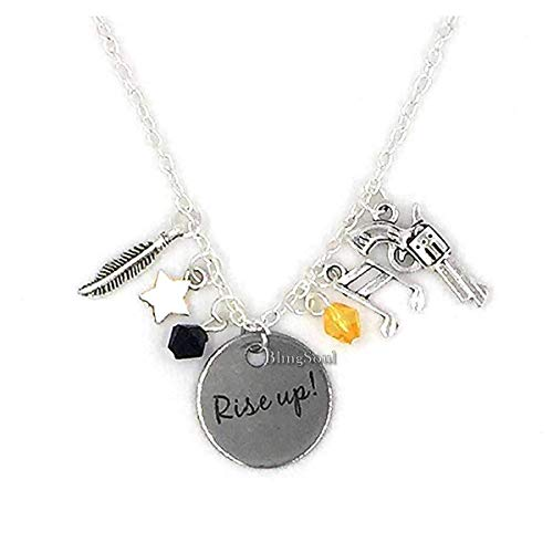 Blingsoul Broadway Musical Necklace Jewelry Merchandise Rise Up Charm Friendship Gifts - American Lin-Manuel Miranda Chain Men Women Costume -