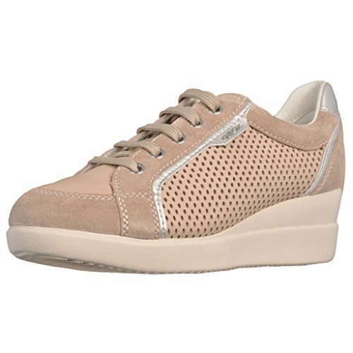 A Brun Stardust Color Marca D Modelo Basket Clair Geox Geox Basket qvBHf