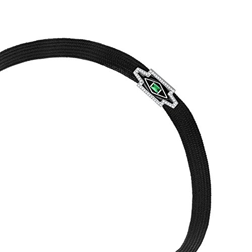 Nikos Koulis femme  18carats (750/1000)  Or blanc|#Gold Rond   Blanc Diamant Smaragd