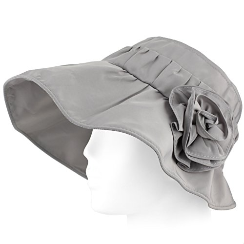 Packable Summer Beach Sun Hat - Travel Roll Wide Wire Brim, UV Protecting Visor - Cloud - Clothing Panama Beach City Stores