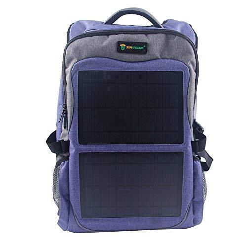 Mochila Resistente al Agua y al Fuego para Laptop con Panel Solar 12W 2 Controladores de Voltaje USB Smartphone Tablet Unisex Mujer Hombre