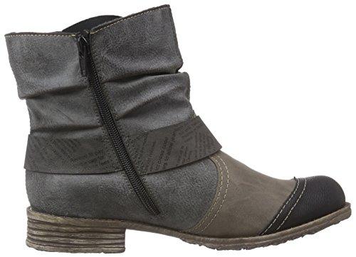 Rieker - botines de caño bajo de material sintético mujer gris - Grau (schwarz/steam/fumo/basalt / 01)
