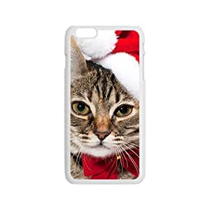 Adorable Cat Wear Santa Hat Phone Case for Iphone 6