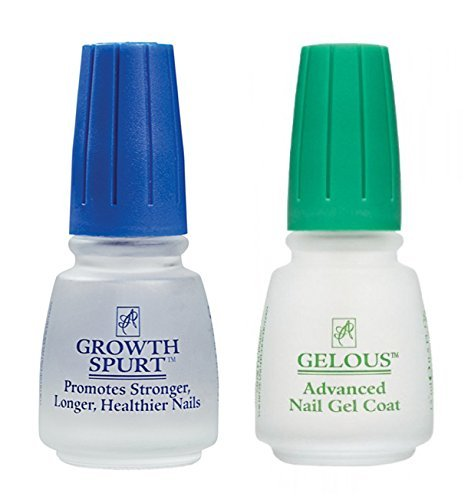 American Classic Nail Care Set (Gelous Nail Gel Base Coat Nail Polish & Growth Spurt Nail Treatment) ACI Beauty