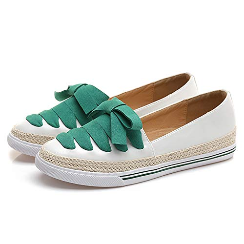 maternity White work matching fisherman slip shoes comfortable shoes Fashion shoes round non color casual flat FLYRCX head shoes butterfly ladies RTH6xqw