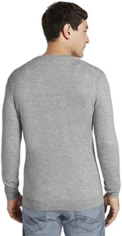 TOM TAILOR Męski sweter i kurtka z dzianiny delikatny kardigan z wełny merynosÓw: Odzież