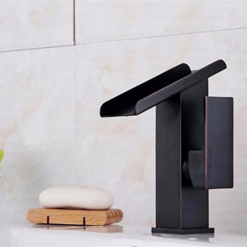 ETERNAL QUALITY Bathroom Sink Basin Tap Brass Mixer Tap Washroom Mixer Faucet The Waterfall Faucet Vanity Full Copper hot and Cold Single Hole Waterfall Faucet Waterfall Faucet Kitchen Sink Taps -