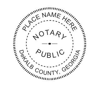 - NEW Round Self-Inking NOTARY SEAL RUBBER STAMP - Georgia