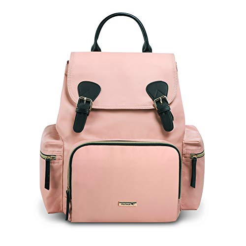 Hafmall Diaper Bag,Stylish Waterproof Baby Bag Backpack,Multi-Function Travel Backpack Maternity Nappy Bag with 3 Insulated Pockets - Rose Elegant Box Out Take