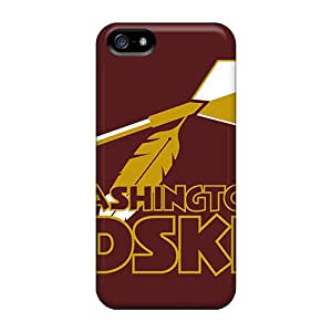KerryParsons Iphone 5/5s Scratch Protection Phone Cases Custom HD Washington Redskins Pattern [BQG6372GSjO]