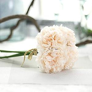 GSD2FF Artificial Flower Hydrangea 5 Heads Peony Bridal Bouquet Silk Flower Wedding Valentine's Day Party Home Decoration,3 13