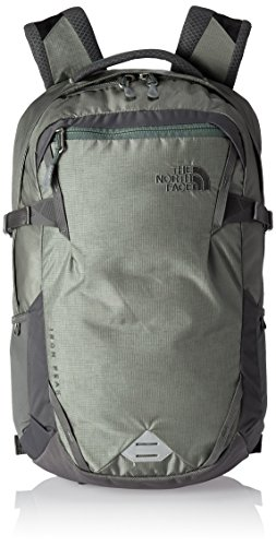 The North Face Iron Peak Backpack, Moon Mist Grey/Duck Green, One (The North Face Nylon Belt)