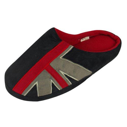 Union des hommes Jack Slipper de nouveauté classique Mule Mule Chaussons - Rouge UK 8