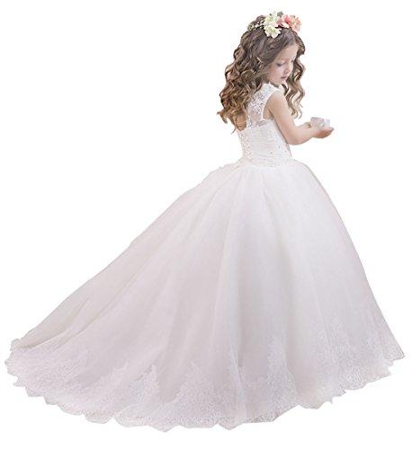 princhar Lace Flower Girl Dress Wedding Party Girl Dresses Little Girl Dress