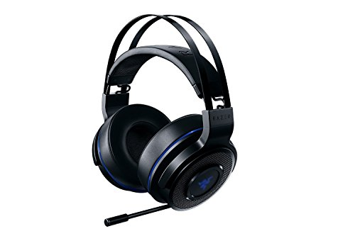 Razer Thresher Stereo Headset for PC & PS4: Lag-Free Wireless Connection - Retractable Digital Microphone - Custom Sound Control Dials - 16-Hour Battery Life ()