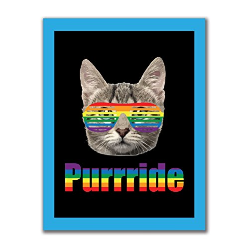 LGBT Purride Funny Cat 4x3in. Rectangular Decal Sticker (Rectangular Cat)