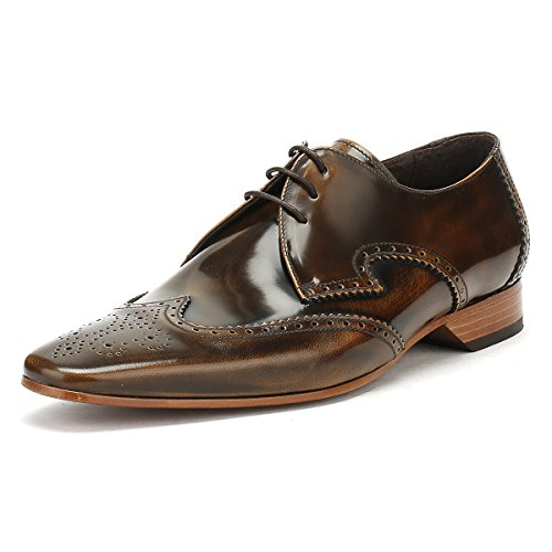 Jeffery-west Mens College Marrone Cammello Escobar Brogue Scarpe Gibson