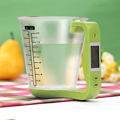 MMQQL Bilancia Cucina,Cucina Digital Tazza di Misurazione Elettronica della Scala Fai da Te Misurini con Display LCD per Il Latte in Polvere Brewing Cucina Cottura (Verde)