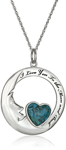 Sterling Synthetic Compressed Turquoise Necklace