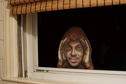 Scary Peeper Cling Window Mask ()