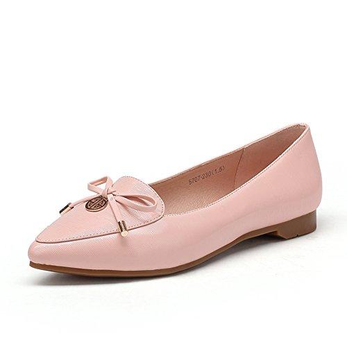 zapatos de los pies en punta/Las señoras caída de zapatos planos arco Coreano C