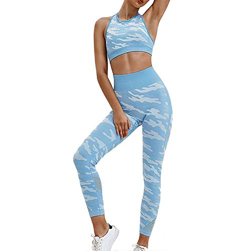 AGUTIUN Workout Sets for Women Seamless 2 Piece Yoga High Waisted Leggings with Sports Bras Tracksuit Clothes Set