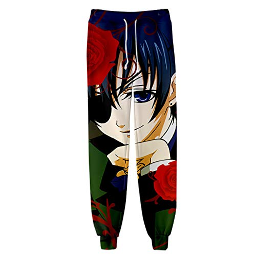 FunStation Anime Black Butler 3D Printed Cosplay Gym Joggers Casual Pants Trousers Drawstring Sports Sweatpants 06 -