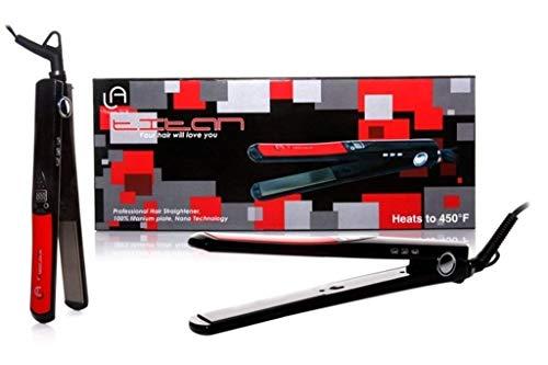 Le Angelique Titan Titanium Nano 450F Flat Iron/Hair Straightener Styler Dual Voltage 110v-240v