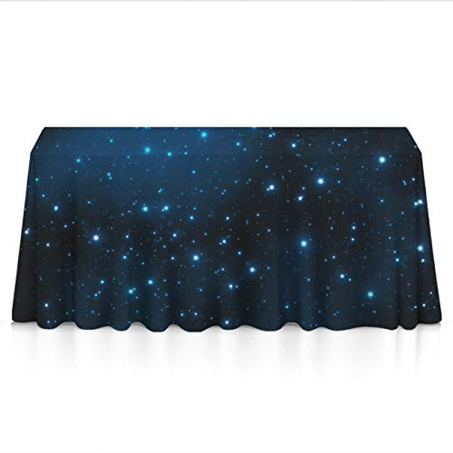 GOAEACH Triple Moon Pentacle Pagan Platinum Style Rectangular Square Table Cloth Polyester Waterproof Wrinkle Free Table Cloth - Dinning Tabletop Decoration, Banquet, Picnic, BBQ Table Toppers