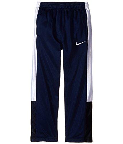 Nike Little Boys' Athletic Track Pants (4T, Navy Blue/White)