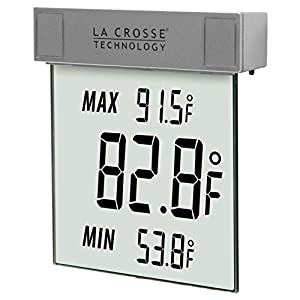 La-Crosse-Technology-WS-1025-Digital-Window-Thermometer-with-detachable-bracket-and-records-MINMAX-temp-Auto-reset