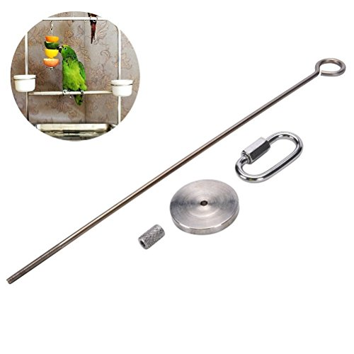 Bird Fruit Vegetable Holder Stainless Steel Vegetable Skewer Hanging Food Feed Tool for Parrot Budgies Parakeet Cockatiels Conure Lovebirds Finch Canary Pigeon Hamster Rat Gerbil Cage (7.9inch,20cm)