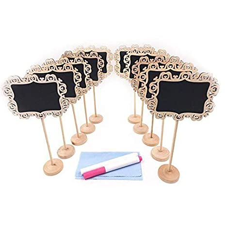 Amazon.com: e-conoro Mini Chalkboards con signos Soporte ...