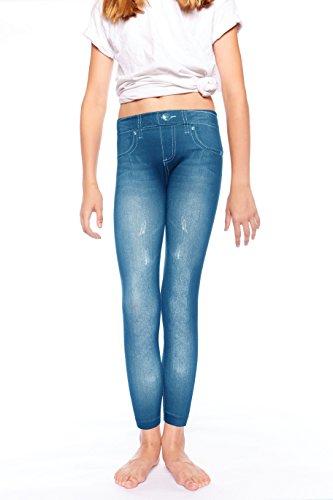 Crush Girls Faded Denim with Rhinestones Legging Pants7 - 16X Denim Blue