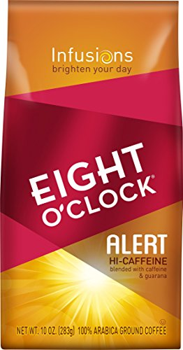 Eight O'Clock Ground Coffee, Alert Hi-Caffeine, 10 Ounce