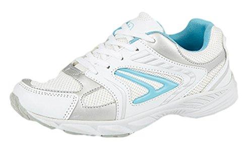 Dek ,  Mädchen Damen Sneaker Low-Tops , Weiß - weiß / blau - Größe: 42
