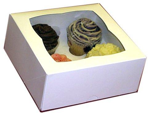 2cupcake/muffin box & colore bianco, può contenere 4torta AVM
