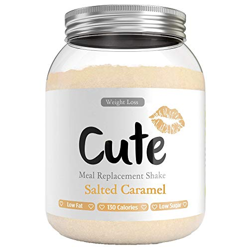 Cute Nutrition Salted Caramel Meal Replacement Shakes for Weight Loss Control Diet Shake for Women 500g tub with Bonus 4…