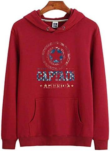 Berrd Neue ModeSweatshirt Herren Sweatshirt Damen Sweatshirt Roter Buchstabe Sternchen-Vereinbarung-M